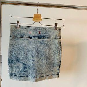 BDG Skirts - BDG Distresses Denim Mini Skirt